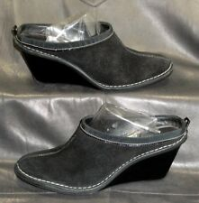 8733ecf1f15b Cole Haan D20174 black suede closed toe mules wedges Women s shoes size 6  1 2