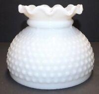 "6"" Milk Glass Hobnail Student Shade Kerosene Oil Electric Table Lamp 227JB"