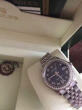 Rolex Datejust diamanti oro gold diamonds 31 medium 178384 Full Set