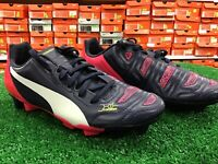 New Junior Puma EvoPOWER 4.2 FG Soccer Cleats Navy / Pink Size 4 New In Box