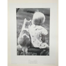 H. Armstrong Roberts - Girl and Cat - 1989 - Offset Poster