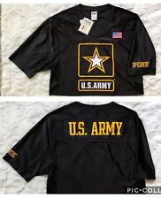 PINK by Victoria Secret U.S.ARMY Collegiate Collection JERSEY Crop FLAG  Shirt M 3f6218915