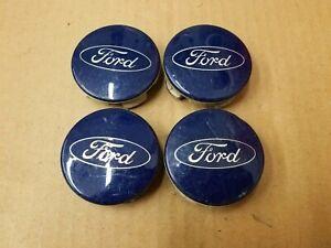 Ford OEM Edge Escape Fiesta Focus Fusion Blue Center Hub Cap Set 6M21-1003-AA