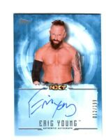 WWE Eric Young 2017 Topps Undisputed Blue On Card Autograph SN 12 of 199