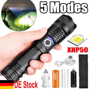 Super hell 9900000lm Taschenlampe LED XHP50 USB Taktisches Fackel Batterie Zoom