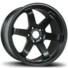 17x8 Matte Black Wheels AVID1 AV06 AV-06 5x114.3 35 Te37 style 6 spoke concave