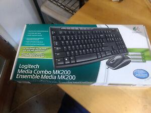Logitech MK200 Media USB Keyboard Optical Mouse Combo Set 920-002714