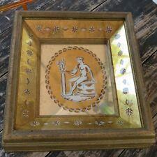 Vintage Mid-Century Modern BARKER BROS Greco-Roman Mirror Art Hollywood Regency