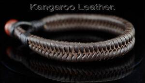 8B-260 HANDMADE Gift Kangaroo Leather Tiger's Eye ARMBAND Wristband Men Bracelet