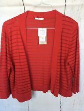 TU Red Cotton Rich Fine Knit Open Cardigan Size 16 BNWT