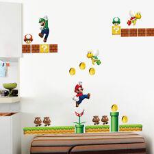 Super Mario Wall Stickers Baby Kids Bedroom Nursery Decor Art Mural Decal