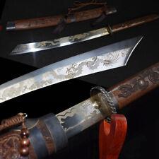 Cloud-dragon Sabre Broadsword Battle Sword Steel Blade Hand Polishing Sharp#1365