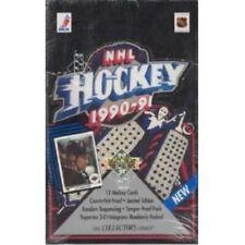 1990-91 upper deck english low # hockey wax box