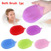 hot Silicone  Glove  Shower Massage Cleaning Mat Bath Brush Body Scrubber