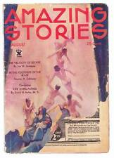 Pulp AMAZING STORIES August 1934 - Jules Verne, John W. Campbell, Jr. - Sci-Fi