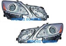 FITS LEXUS GS430 2007 2008 2009 2010 2011 HEADLIGHTS HEAD LIGHT LAMPS PAIR SET