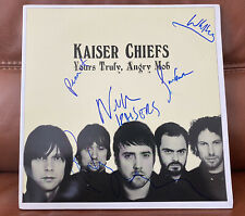 More details for the kaiser chiefs - fully hand signed lp vinyl - yours truly, angry mob / rare