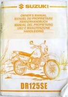 SUZUKI DS125SE Original Motorcycle Owners Handbook Sep 1999 #99011-44A52-DGS
