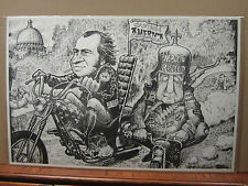 Vintage Easy Rider Nixon black and white poster political 1777