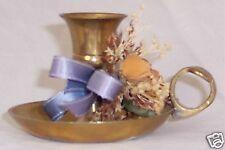 "Metal 2.5X3.5"" Goldtone Brass Decorated Lantern Lamp Light Candle Holder"