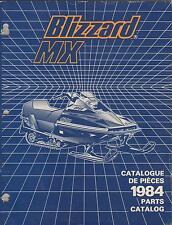 1984 SKI-DOO BLIZZARD MX  SNOWMOBILE PARTS MANUAL
