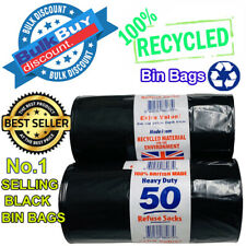 More details for heavy duty black refuse sacks strong thick rubbish bags bin liners uk made