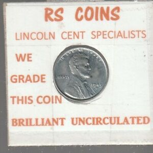 1943D  STEEL  LINCOLN  CENT   ~  BRILLIANT UNCIRCULATED ~   RS COINS #101915