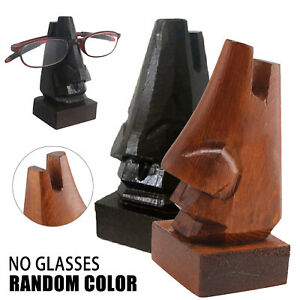 Wooden Nose Shaped Sunglasses Spectacles Eye Glasses Holder Stand Display Stand