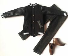 Barbie Ken Doll Fashion Clothes Coat Jacket Pants Set Shoes free shipping