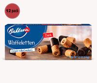 Bahlsen Waffeletten Dark Chocolate Rolls - 3.5 oz. - Case of 12