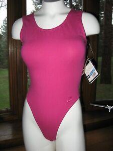 Nike Women Workout Thong Leotard Bodysuit Beautiful 80s 90s Vintage Soft Sexy