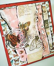 Handmade Shabby Chic 3D Butterfly Ephemera All Occasion Card by Bella Stitchery