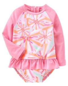 OSHKOSH B'GOSH® Baby 6-9M, 12-18M Fireworks 1-Pc. Rashguard Swimsuit NWT