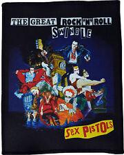 SEX PISTOLS GREAT ROCK & ROLL SWINDLE LONDON PUNK 1977 BLACK COTTON PATCH A6+
