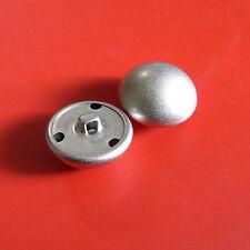 12 Metal Brass Domed Half Ball Sew On Shirt Button Sand Matte Silver 12.5mm G218