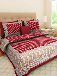 indian king size duvet cover with 2 zipper pillow cover bedding comforter set