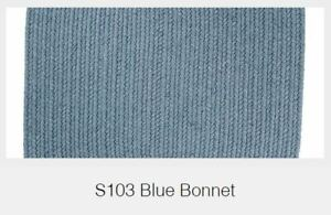 Solid Blue Bonnet 100% Wool New England Country Home Classic Braided Rug