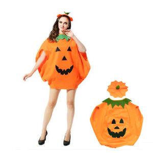 ADULT PUMPKIN COSTUME Halloween Unisex Fancy Dress Up Party Orange Vegetable New