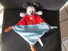 201/ doudou plat Mickey bleu rouge arrosoir radis DISNEY NICOTOY