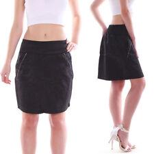 Gonne e minigonne da donna neri in cotone