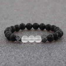 2018 Fashion 24kt Plated Zircon Polygon Beads Black Hand Braided Men Bracelets