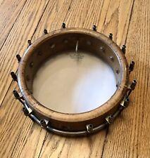 "Vintage Maple Banjo Rim 8"" D Rolled Tonering Complete High Quality 1920s WORTHY"