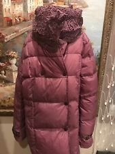 Girls Youth Winter Long Duck Down Coat Purple Size 9/10 Made in Italy