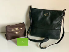 NEW! KATE SPADE NEW YORK BLACK PEBBLED LEATHER CROSSBODY SLING BAG PURSE SALE