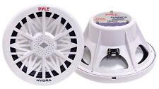 "New Pyle PLMRW12 12"" 600 Watt White 4 Ohm Marine Subwoofer"