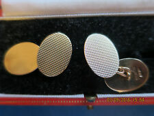 CROPP & FARR 9ct GOLD VINTAGE HALLMARKED CUFFLINKS lovely quality makers