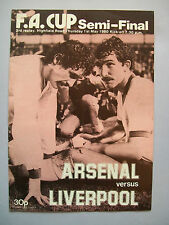 1980 FA Cup semi-final Arsenal v Liverpool 3rd Replay programme in mint con.