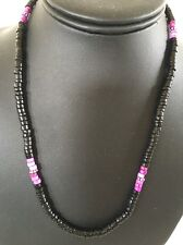 Native American Purple , Onyx Sterling Silver Men's Necklace