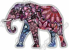 "Cheerful Elephant Pink Abstract Colorful Car Bumper Vinyl Sticker Decal 5""X4"""