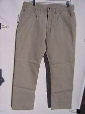 Izod Men's Beige Flat Front Pants Size 34/30 NWT
